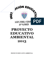 Proyecto Educativo Ambiental 2013
