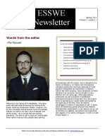 Esswe Newsletter Spring 2014