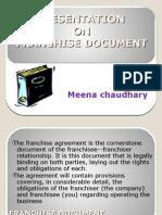Presentation on Franchise Document