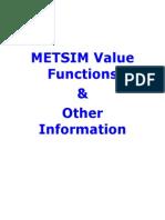 METSIM Value Functions
