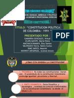 Constitucion de La Republica de Colombia - Derecho Constitucional