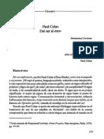 Levinas - Paul Celan. Ser y Otro (Nombres, Jul. 1995)