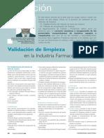 Articulo Validacion de Limpieza en La Industria Farmaceutica (III) Www.farmaindustrial.com