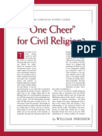 One Cheer for Civil Religion?