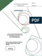 Metales ferrosos - Monografía