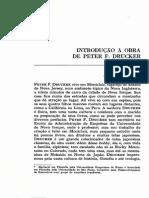 Intro a Obra de Peter Drucker