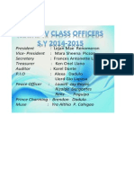 Classroom Officers 2014