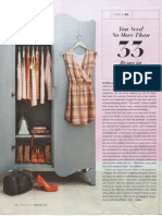 You Need No More Than 33 Items In Your Whole Closet - O Magazine, March 2014