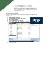 Introduccion a Windows Forms