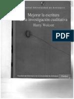 Mejorar La Escritura en Investigacion Culitativa H Wolcott