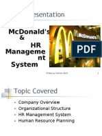 HR Structure Of Mcdonald By Farhan Abid