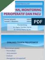 Persiapan, Monitoring Perioperatif Dan PACU
