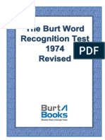 Burt Word Recognition Test