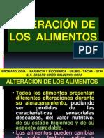 Alteración y Conservación de Los Alimentos 3º. 2014.