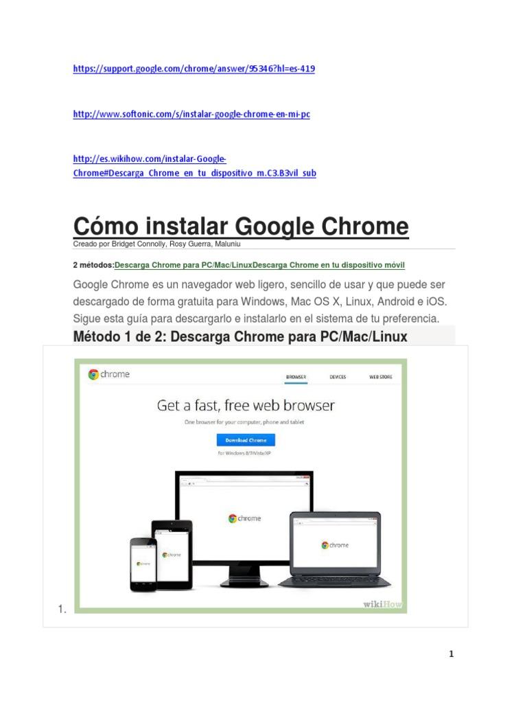 como instalar google chrome en mac