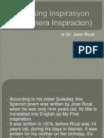 Ang Aking Inspirasyon Ni Jose Rizal