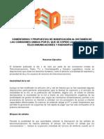 Comentarios R3D a dictamen del 1 de julio - Ley Telecom