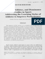Coaches, Athletes, And Dominance