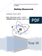 year 10 holiday homework term 3 2014