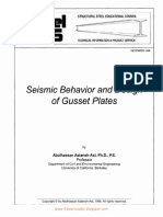 Seismic Behavior and Design of Gusset Plates