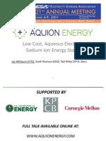 Aquion Energy presentation