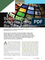 Business Process Analytics Using a Big Data Approach