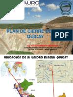 Plan de Cierre Mina Quicay