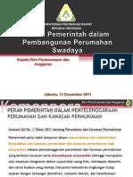 Peran Pemerintah Dalam Pembangunan Perumahan Swadaya