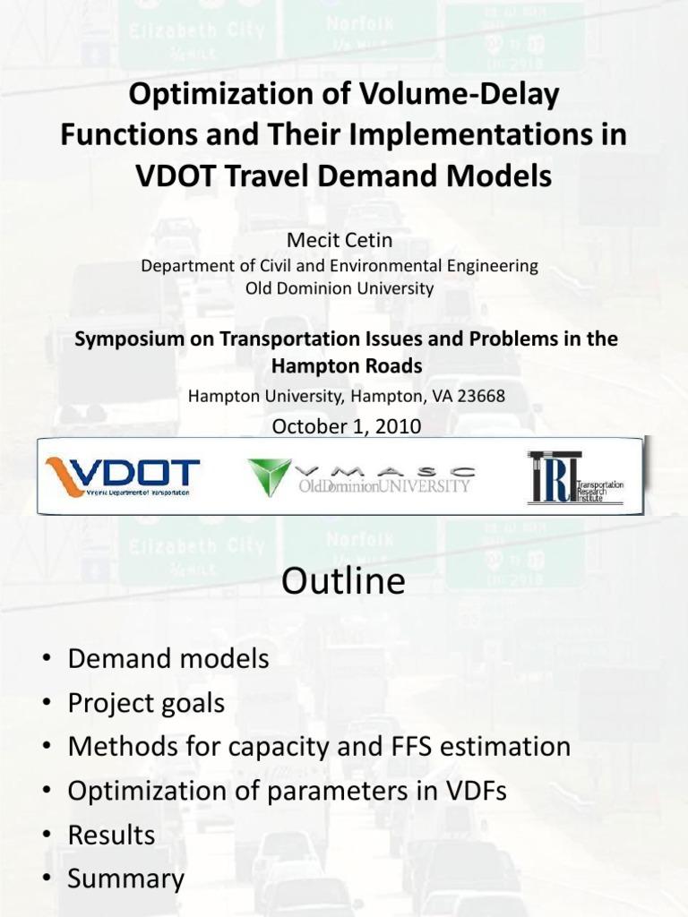 Optimization of Volume-Delay Functions   Genetic Algorithm