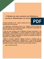 4º sessão - Modelo de auto-avaliação