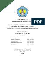Laporan Kemajuan PKM-T (Hybrid Power Plant)