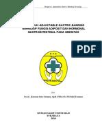 PENGARUH ADJUSTABLE GASTRIC BANDING TERHADAP FUNGSI ADIPOSIT DAN HORMONAL GASTROINTESTINAL PADA OBESITAS