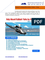 Mount Kailash Yatra by Helicopter - 05 & 11 Sept 2014