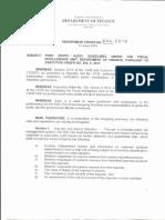 Post-entry audit rules under DOF Department Order 044_2014