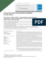 Antibacterial , Efectos en Resina, Ingles