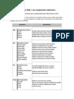 Tipos de Sentencias SQL y Sus Componentes Sintácticos
