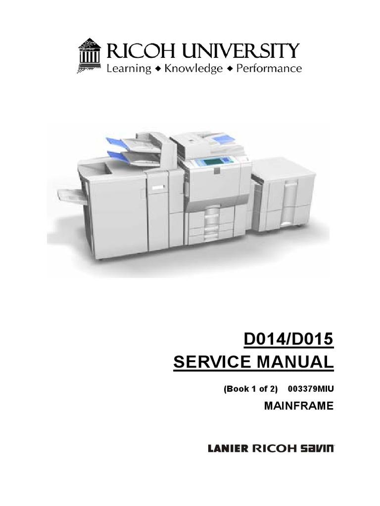 Manual Ricoh Aficio Mp 2000 Books Color Copier C2800 C3300 Service Mp6000