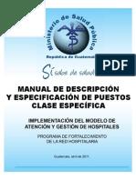 Manual de Descripcion y Especificacion de Puestos Clase Espe