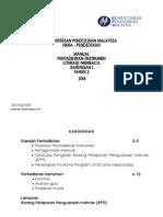 Manual Instrumen Literasi Tahun 2 2014