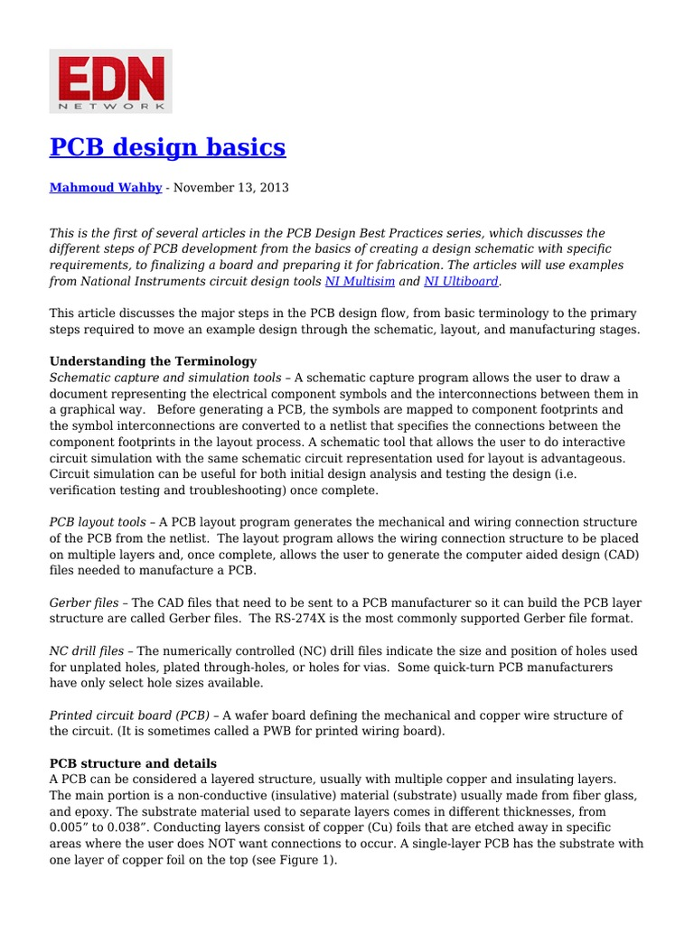 223691132 Pcb Design Basics Printed Circuit Board Electricity How To Build A Layout