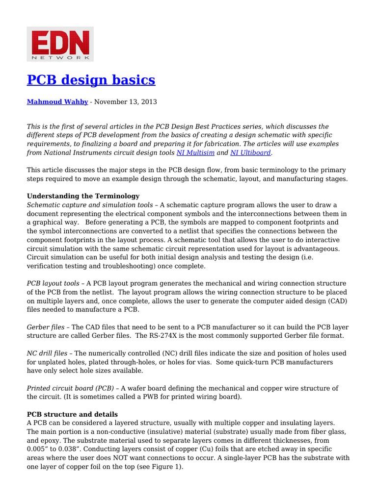 223691132 Pcb Design Basics Printed Circuit Board Electricity Schematics