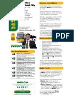 MetroTas Timetable FernTree 20NOV11
