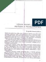 01 vznik knihy, její účel, metoda a problematika