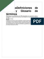 Definiciones de CRM y Glosario de Términos
