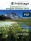 Tuxer Prattinge - Ausgabe Sommer 2014