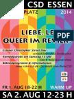 Ruhr.CSD Essen Programm 2014