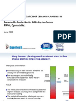 Nestle Waters Forecasting Improv Ment Slides