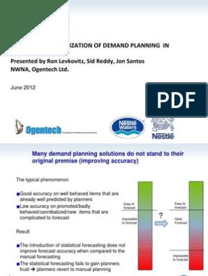 Nestle Waters Forecasting Improv Ment Slides | Predictive