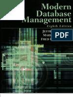 Modern Database Management By Jeffrey A Hoffer Pdf