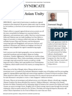 The Road to Asian Unity by Jaswant Singh - Project Syndicate